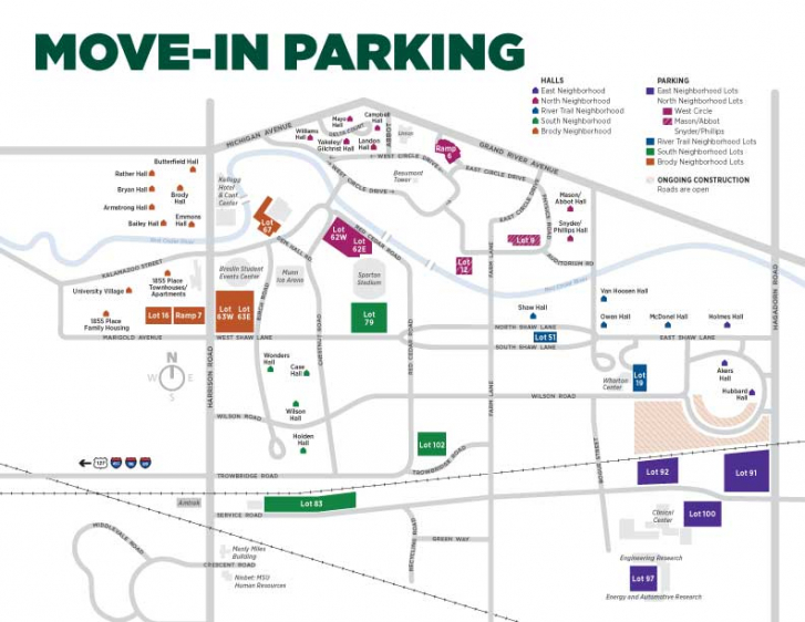 Parking maps for move in